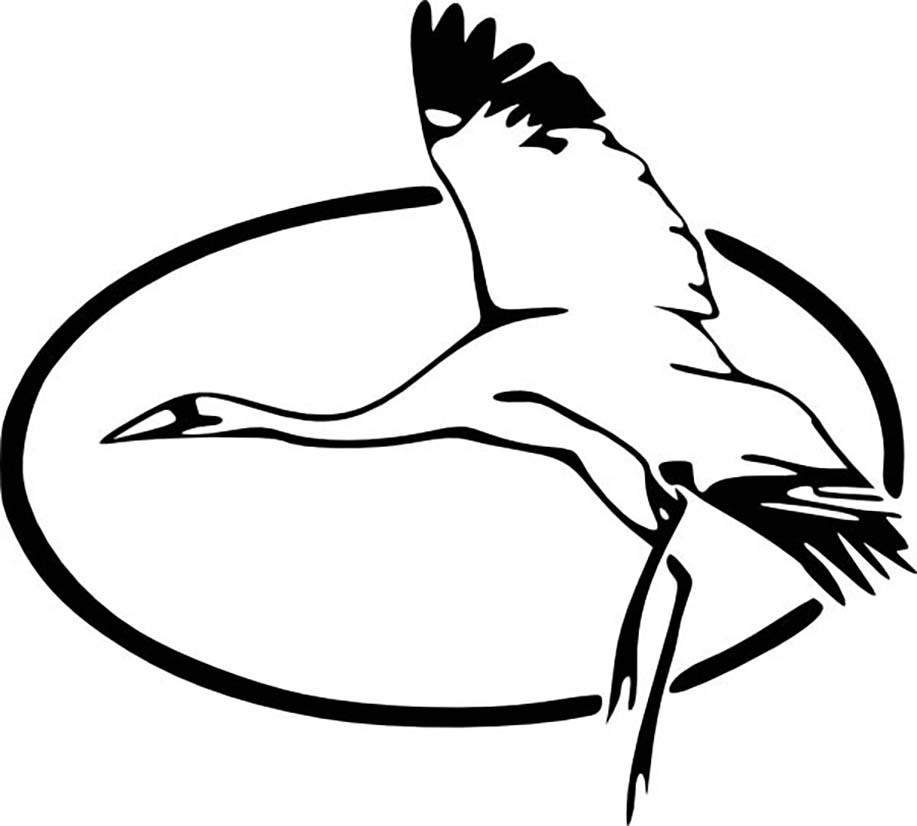 Heron In Flight Coloring Page