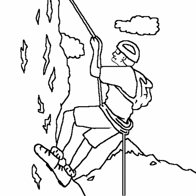 Mountain Climbing Coloring Pages