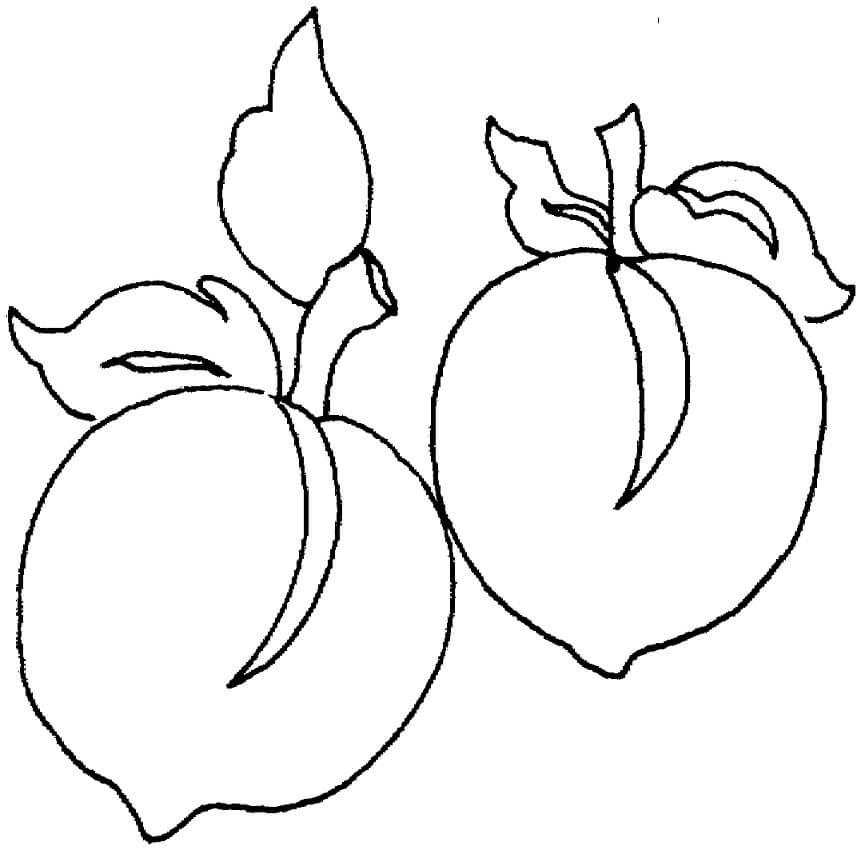Peaches Coloring Pages