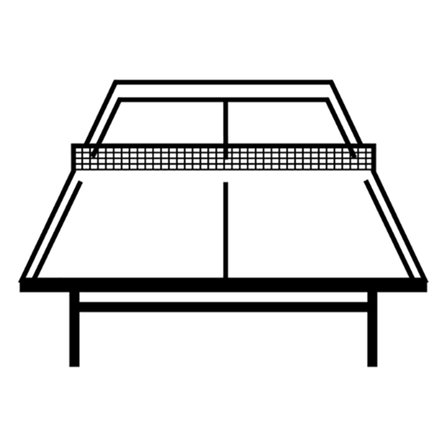 Ping Pong Table Coloring Page