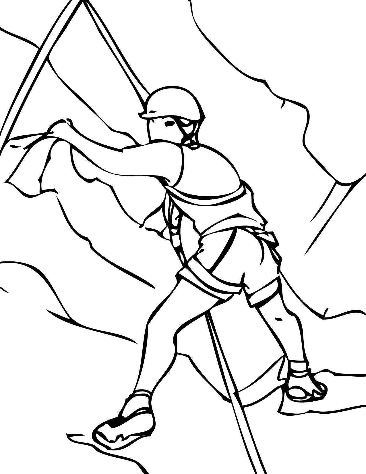 Rock Climbing Coloring Page