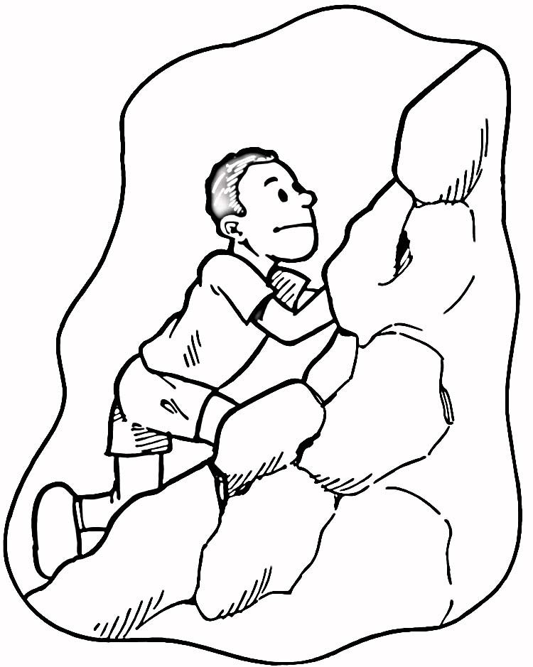 Rock Climbing Coloring Pages