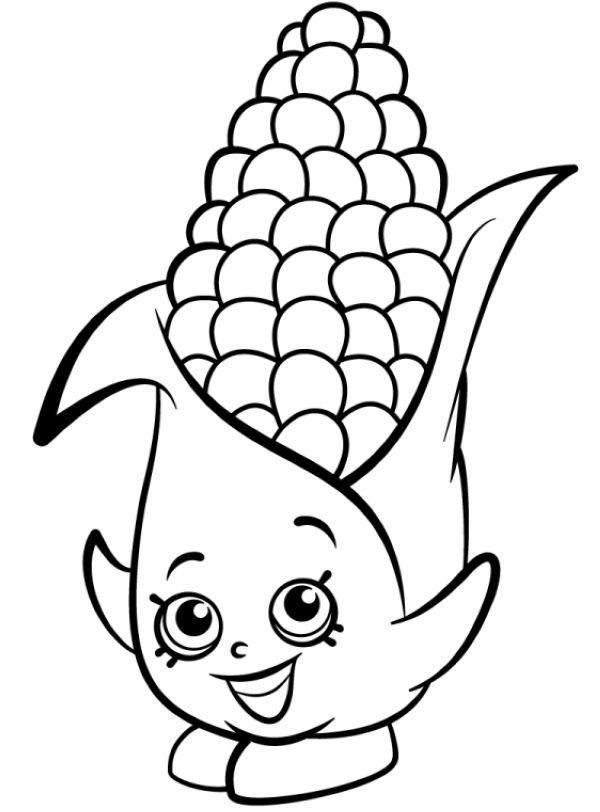 Shopkins Corn Coloring Page