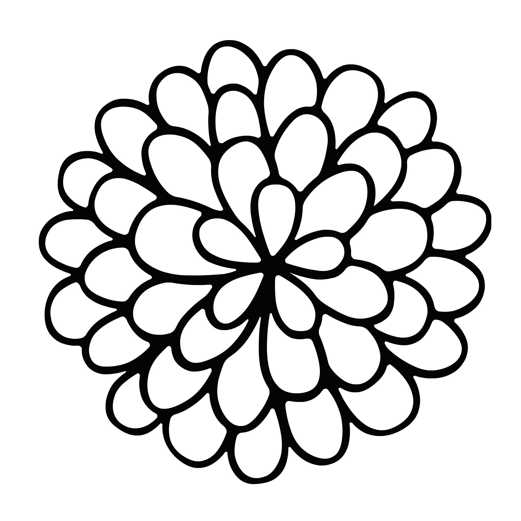 Simple Marigold Flower Coloring Pages