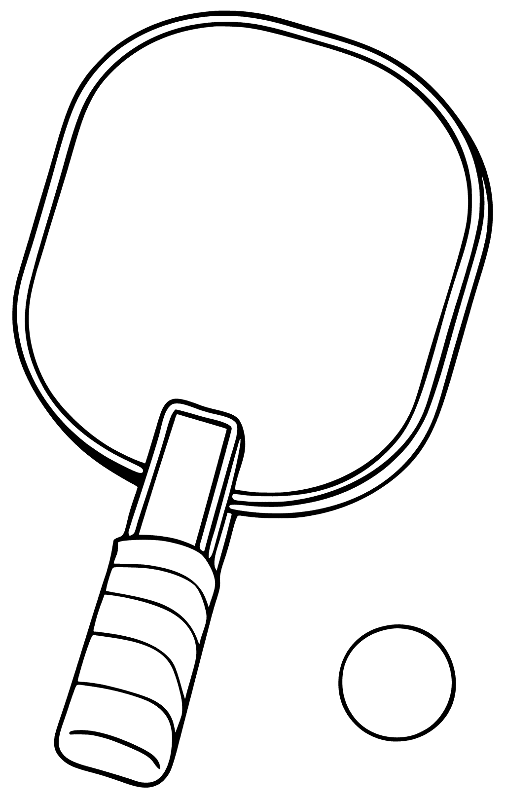Simple Ping Pong Coloring Pages