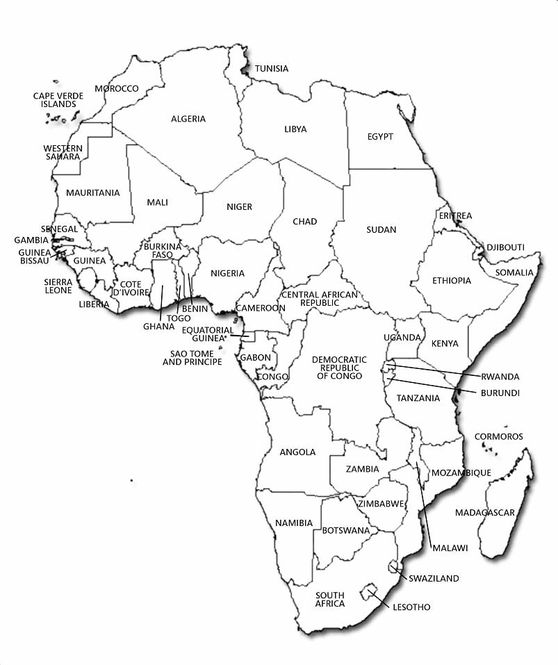Africa Map Sheet