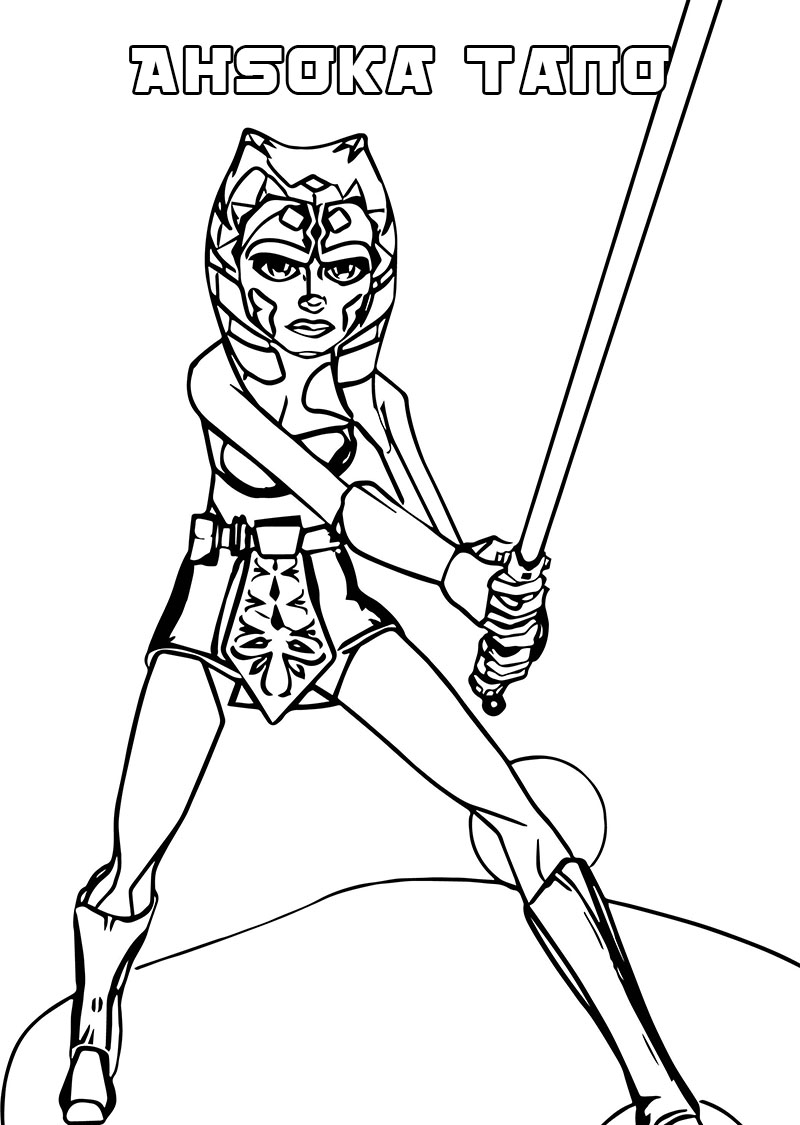 Ahsoka Tano Stance Coloring Pages