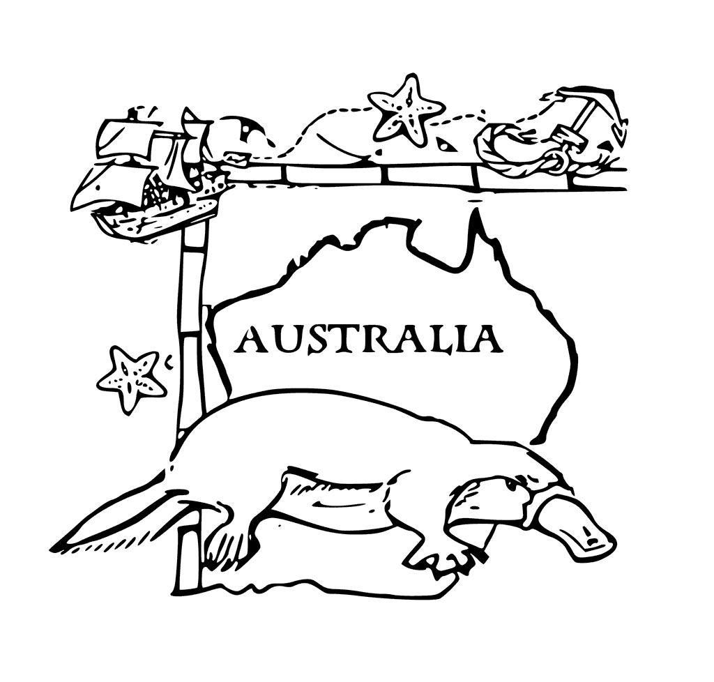 Australia Coloring Sheet
