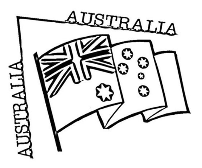 Australia Flag Coloring Page
