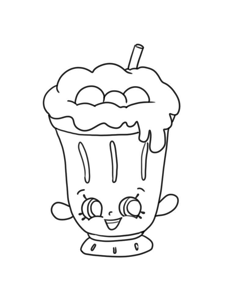Cartoon Milkshake Coloring Page