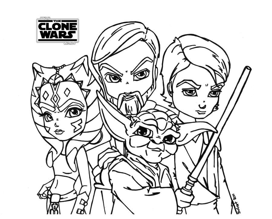 Clone Wars Ahsoka Tano Coloring Page