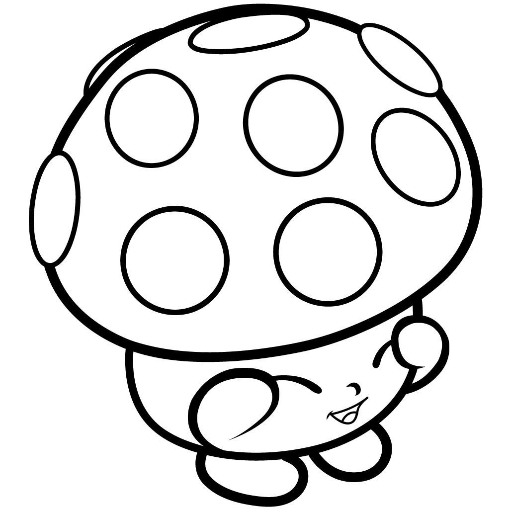 Cute Mushroom Character Coloring Page