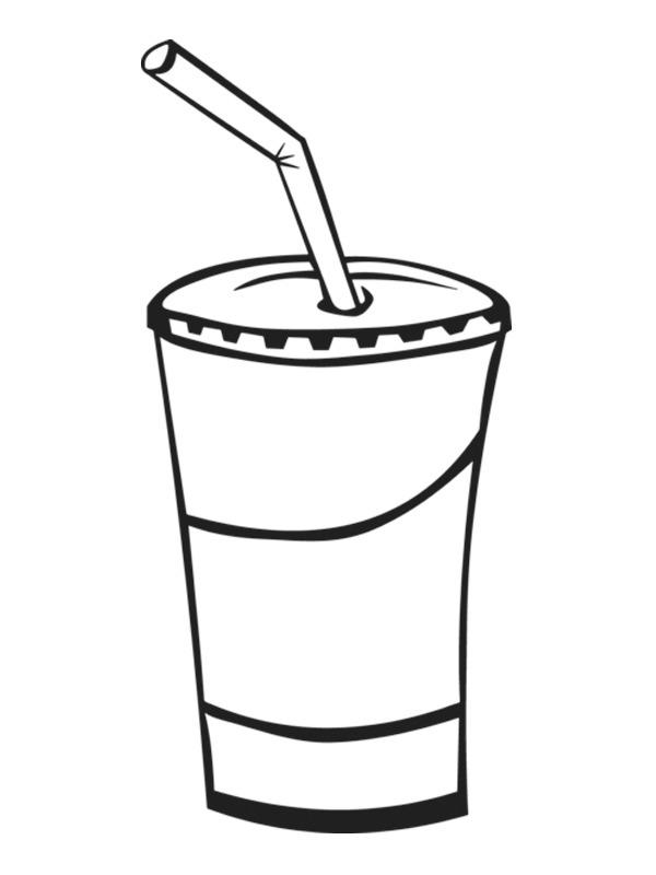 Easy Milkshake Coloring Page