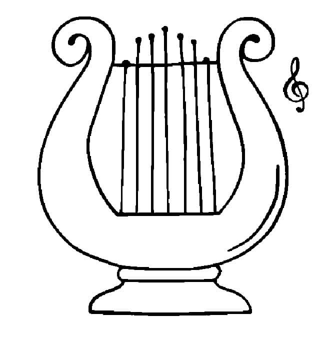 Greek Harp Coloring Page
