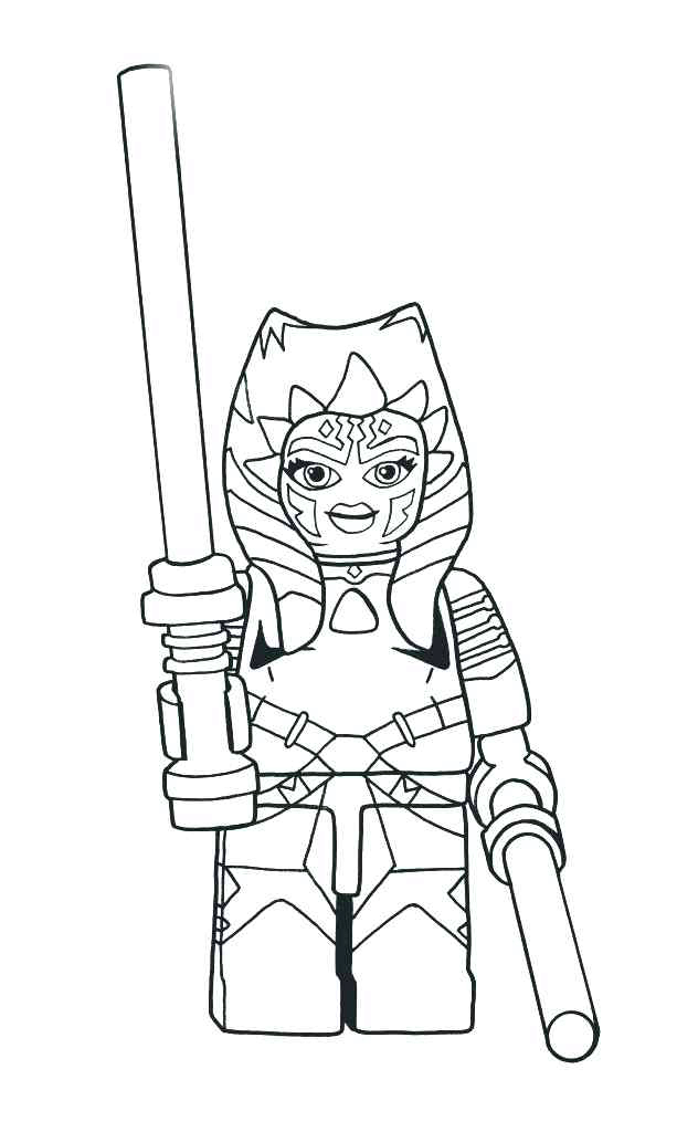 Lego Ahsoka Tano Coloring Page