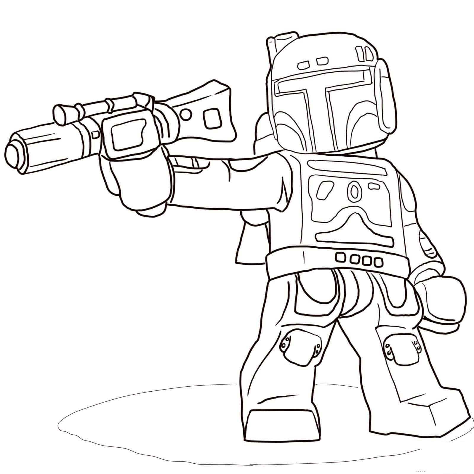Lego Mandalorian Coloring Pages