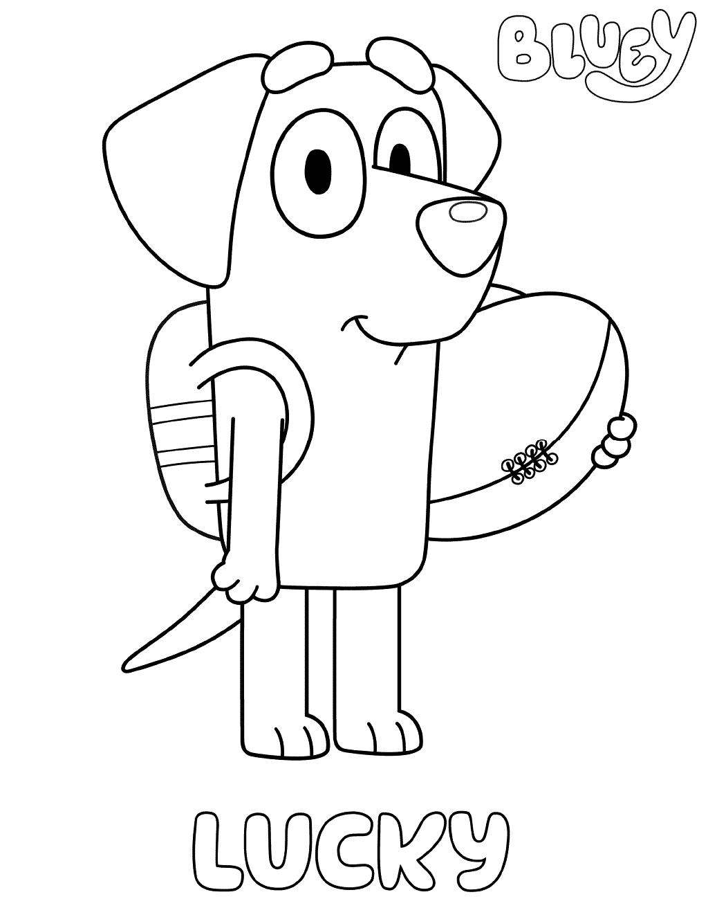 Lucky Labrador Coloring Page