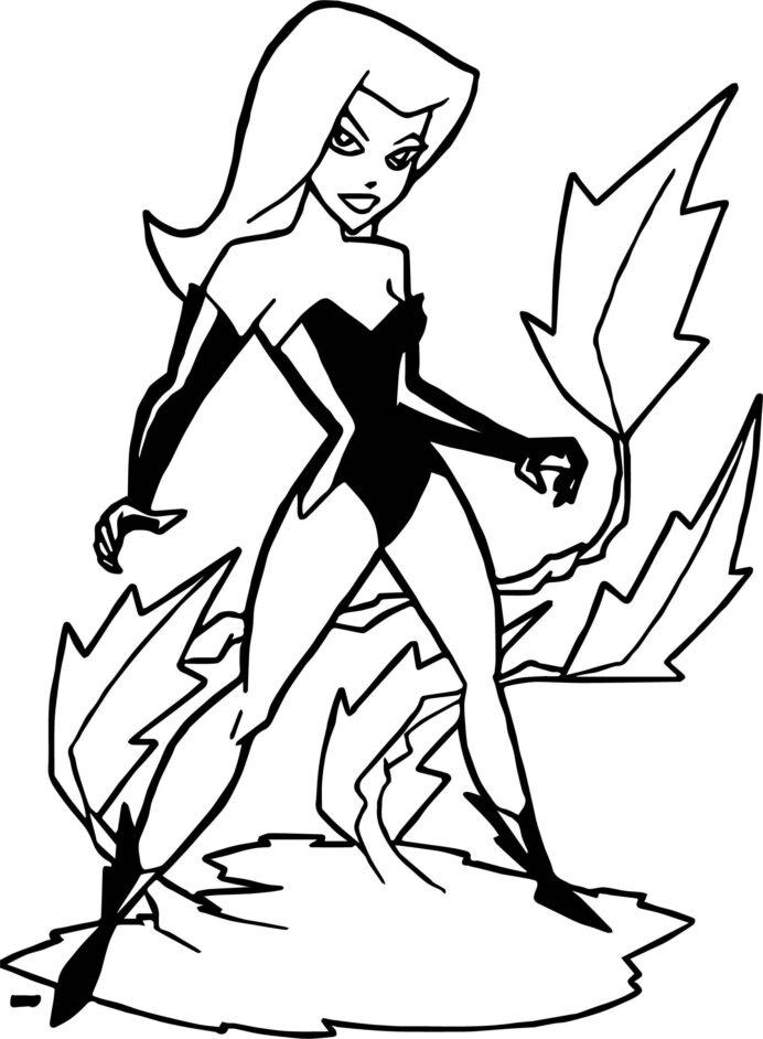 Poison Ivy Batman Coloring Pages