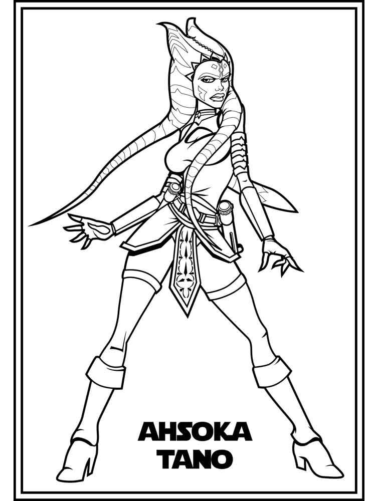 Printable Ahsoka Tano Coloring Pages