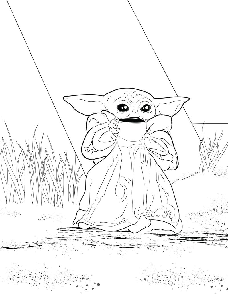 The Child Printable Coloring Page