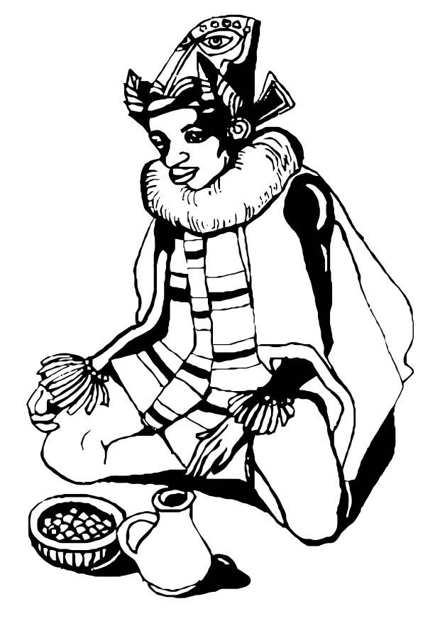 Traditional African Attire Coloring Page