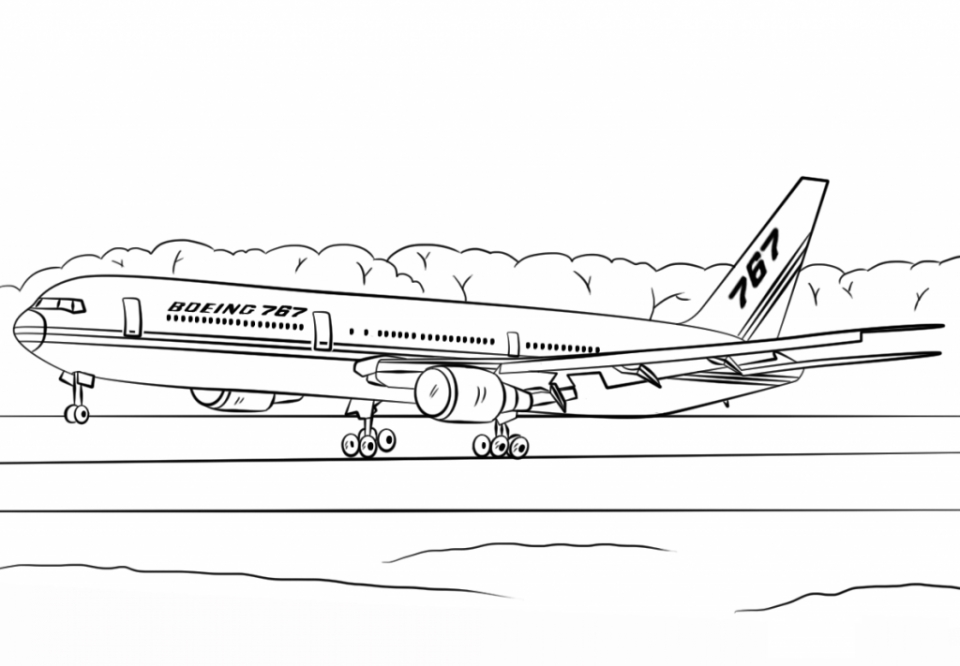 Coloring Pages Of Airplane Yc4va