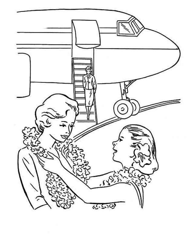 Airport In Hawaii Coloring Page