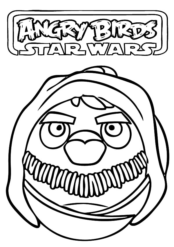 Angry Obi Wan Coloring Page