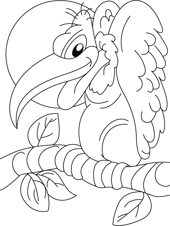 Cartoon Vulture Coloring Pages
