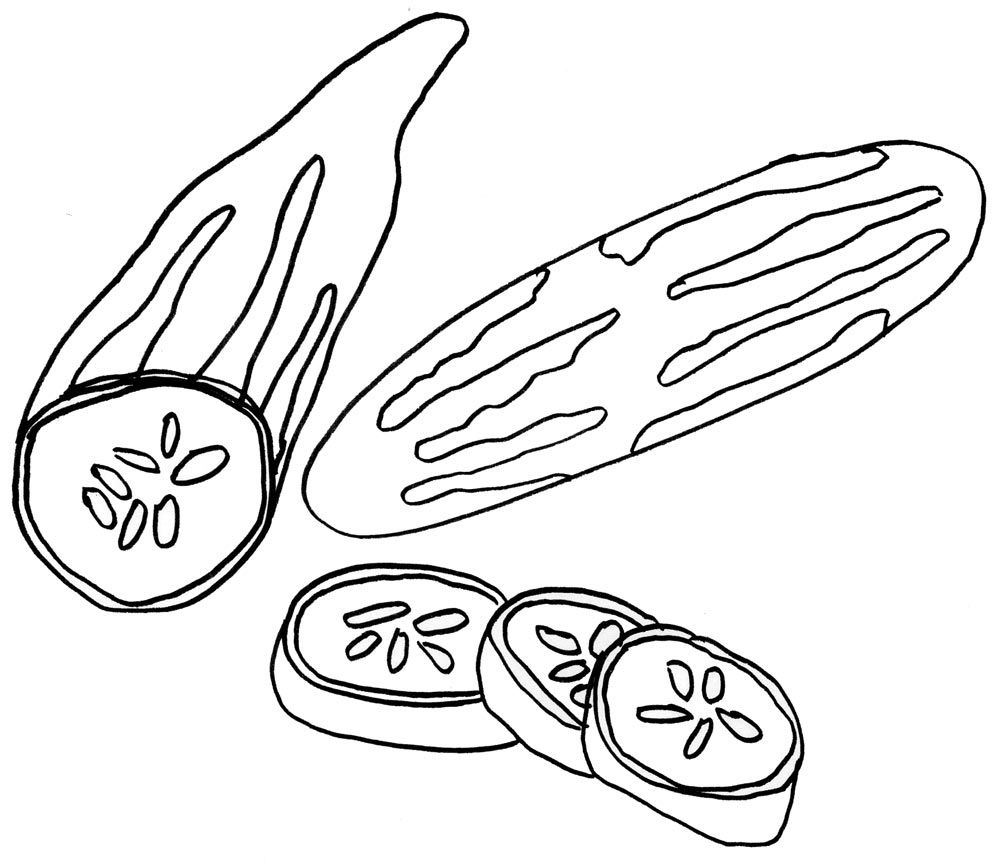 Cucumbers Coloring Pages