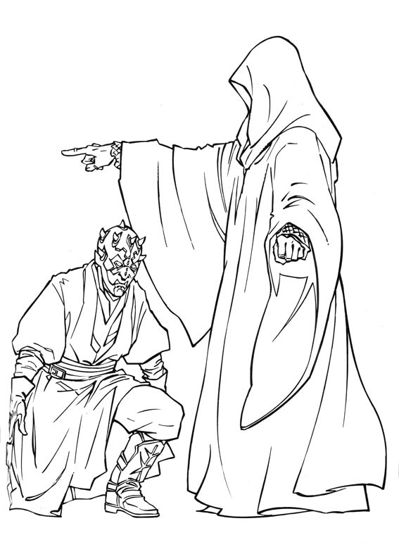 Darth Sidious Darth Maul Coloring Pages