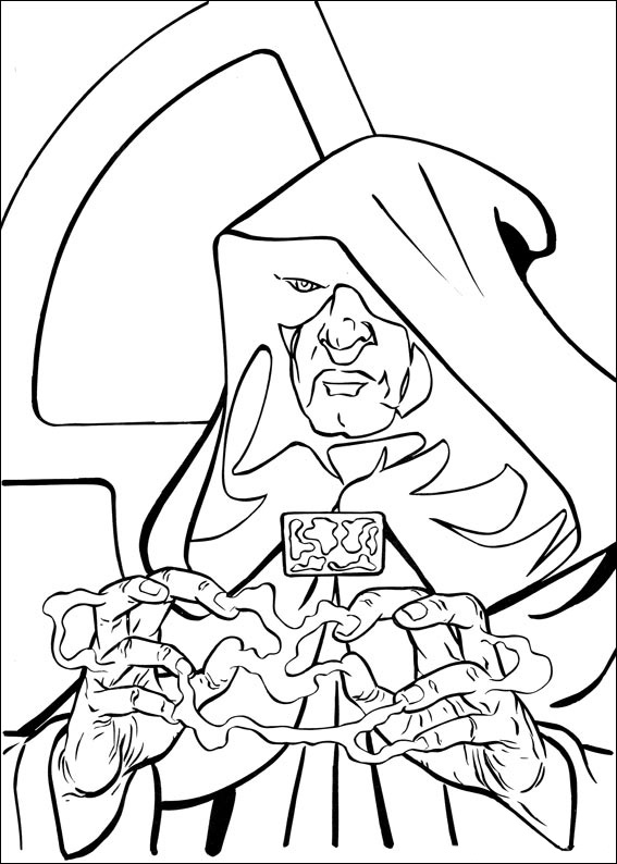 Darth Sidious Energy Coloring Pages