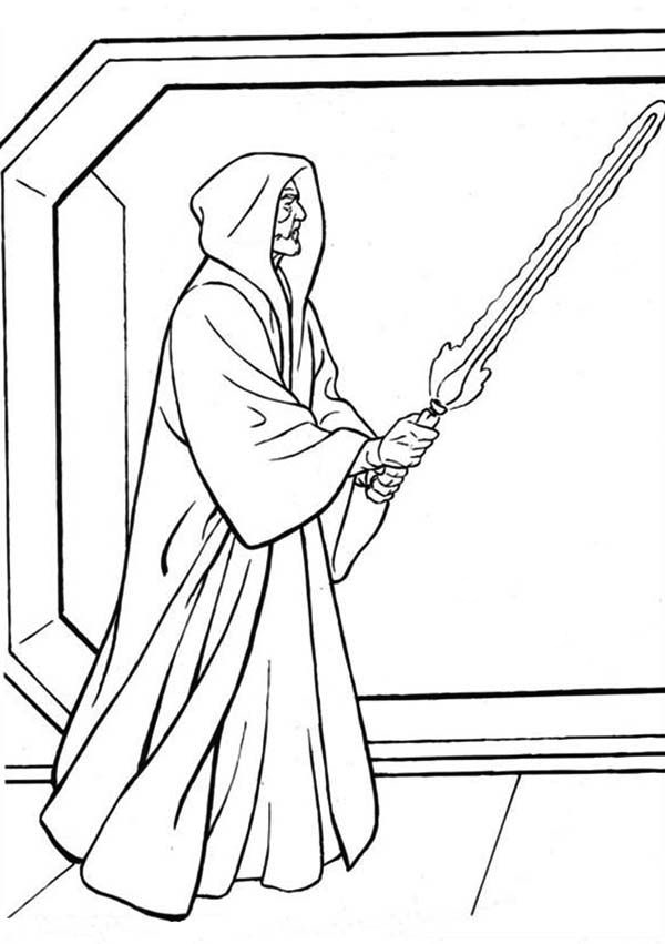 Darth Sidious Light Saber Coloring Pages
