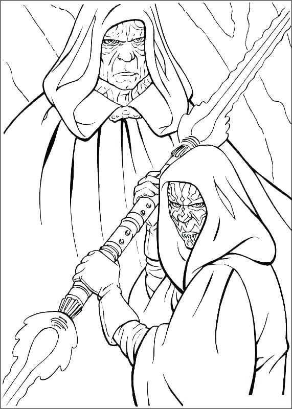 Darth Sidious And Apprentice Coloring Pages