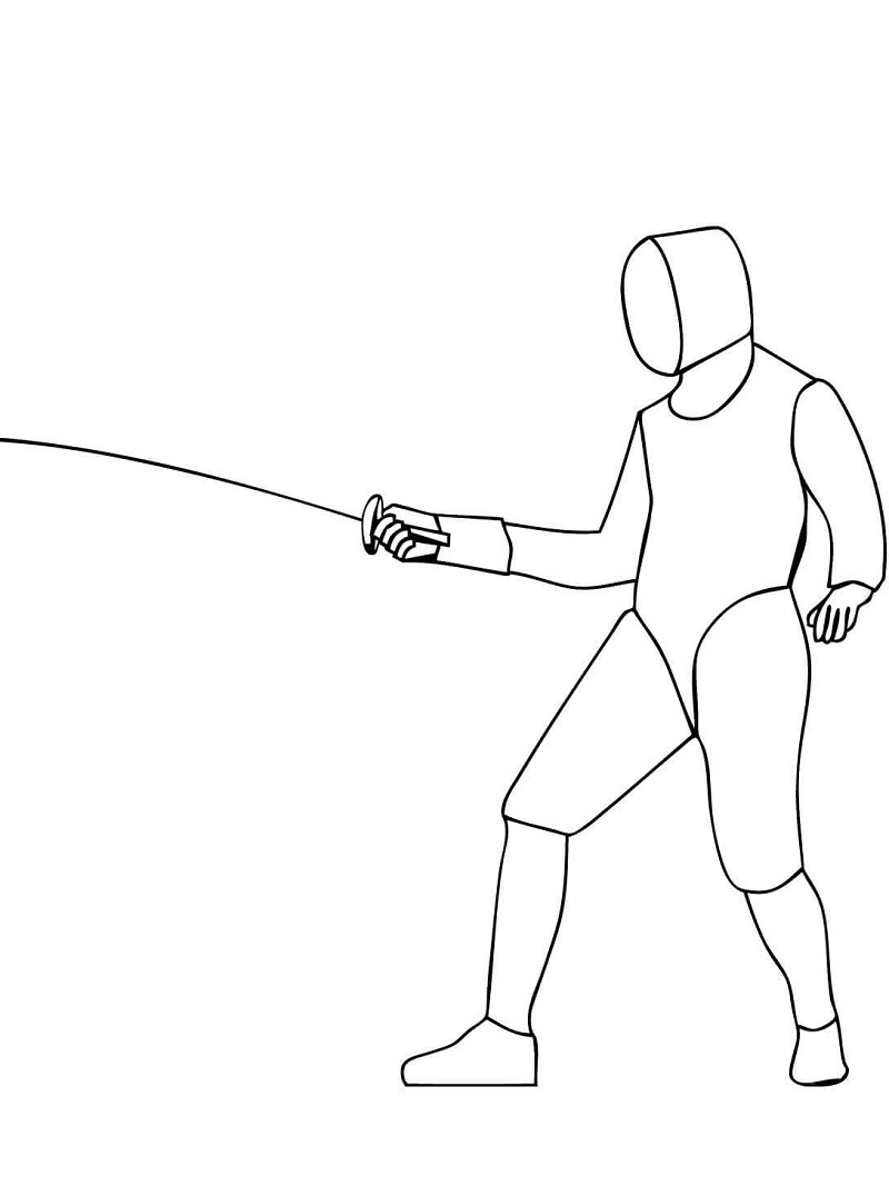 Easy Fencing Coloring Pages