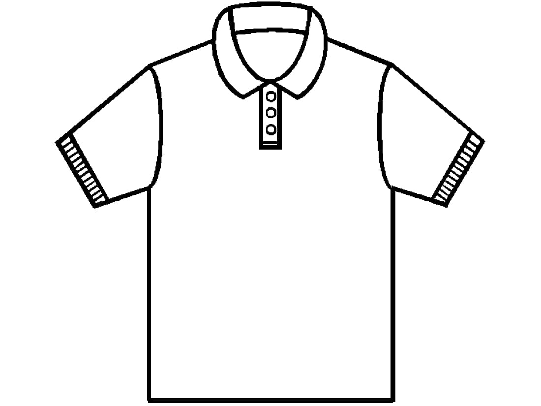 Easy Polo Shirt Coloring Pages