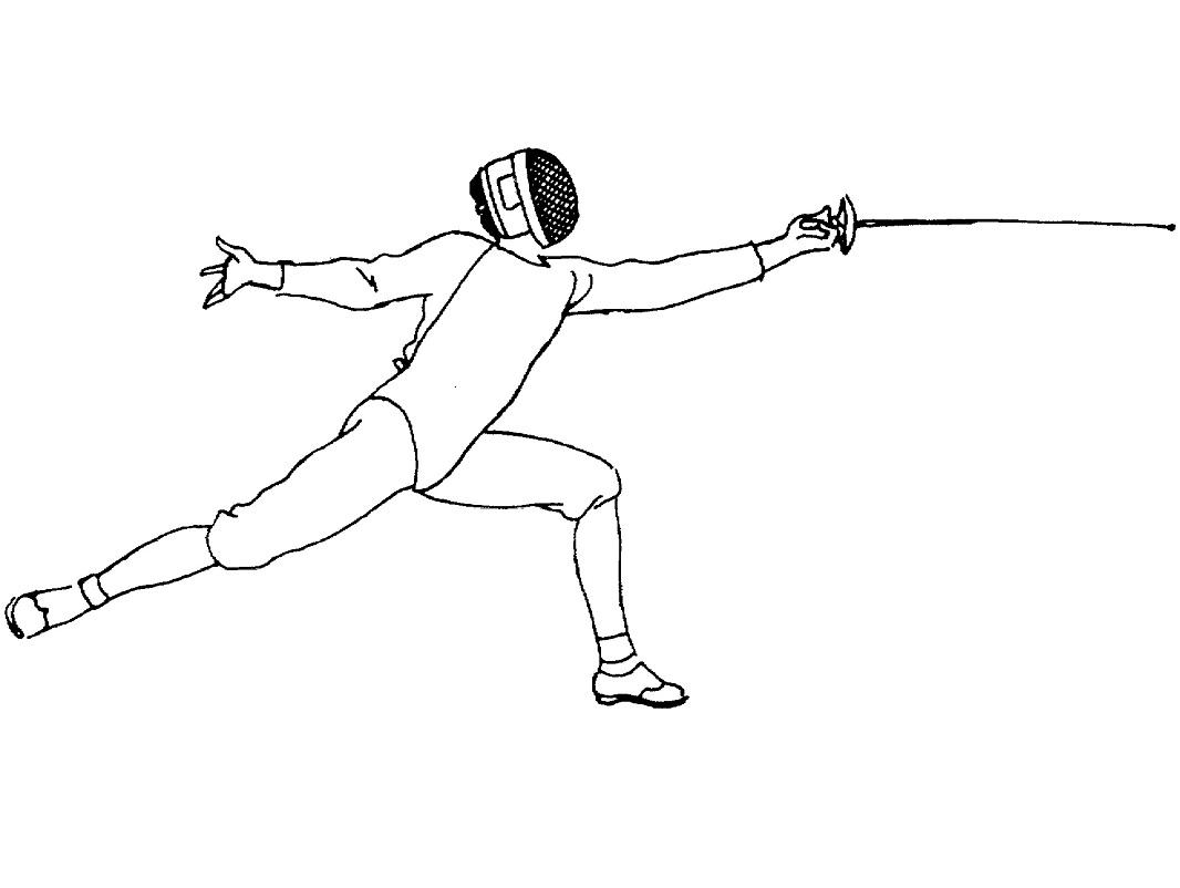 Fencing Attack Coloring Page