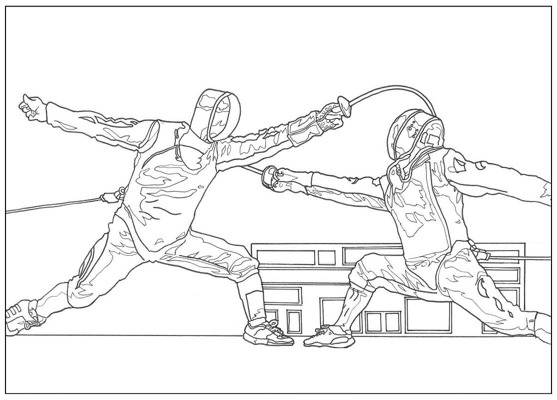 Fencing Attack Coloring Pages