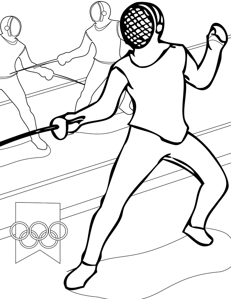 Fencing Coloring Pages