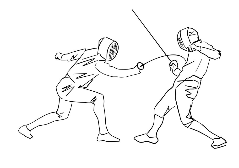 Fencing Duel Coloring Pages