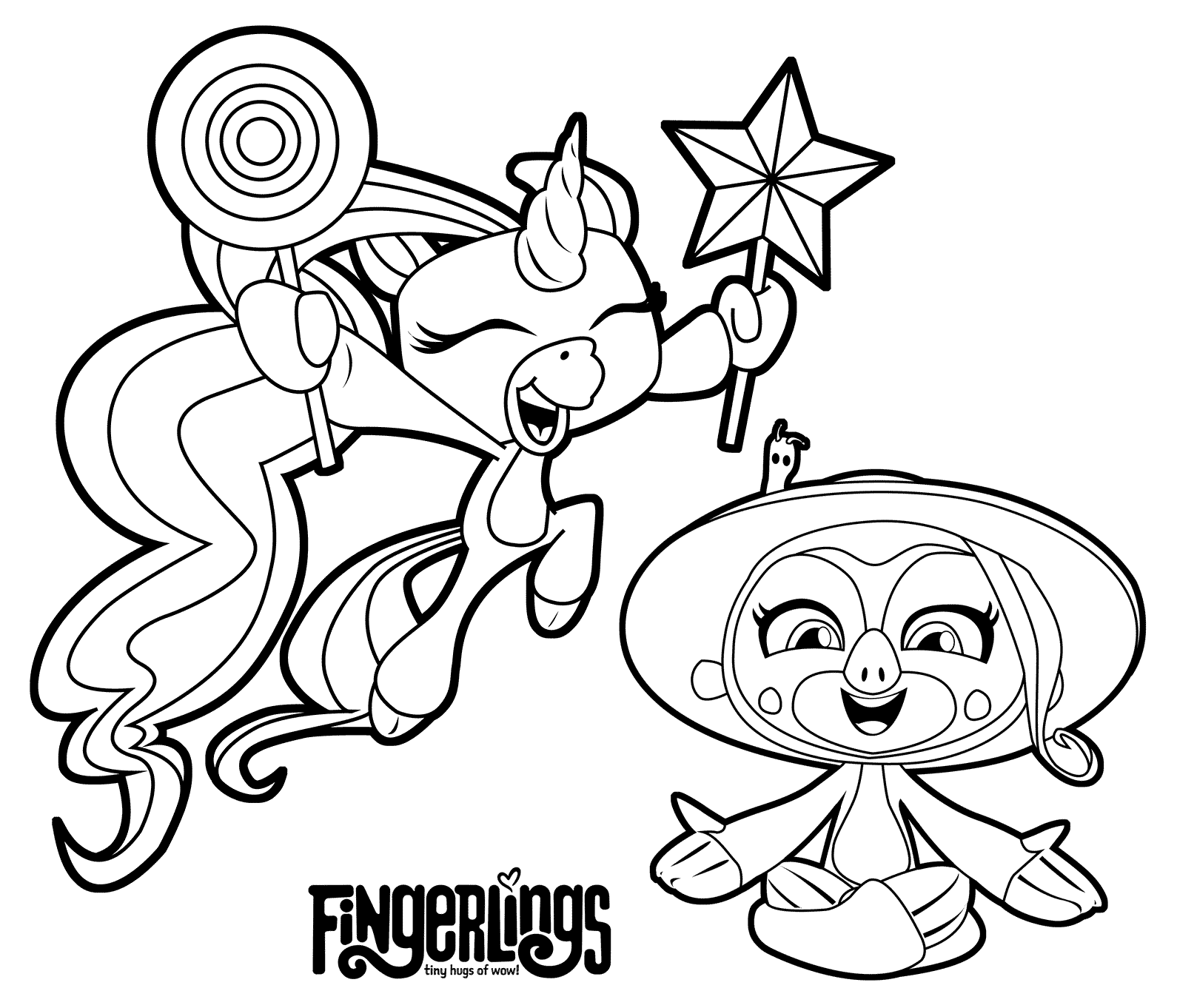 Fingerlings Sloth Coloring Page