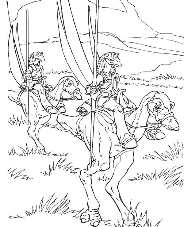 Gungan Riders Coloring Page