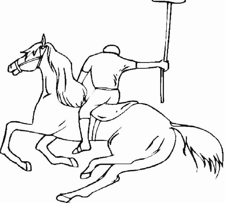 Horse Polo Coloring Pages