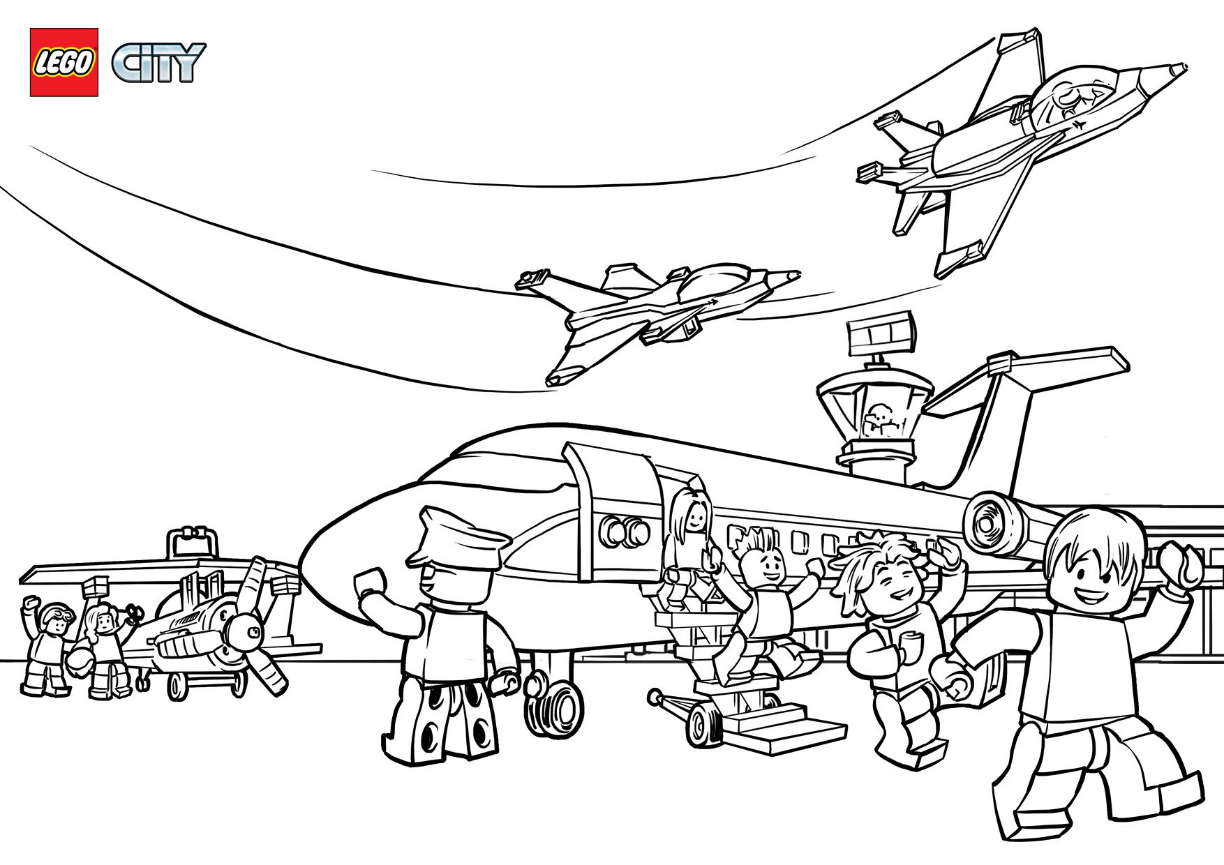 Lego City Airport Coloring Pages