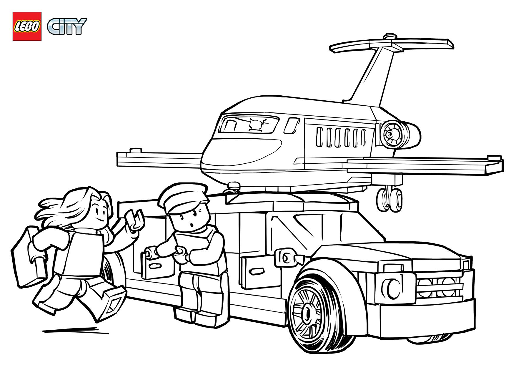 Lego Limo At Airport Coloring Page