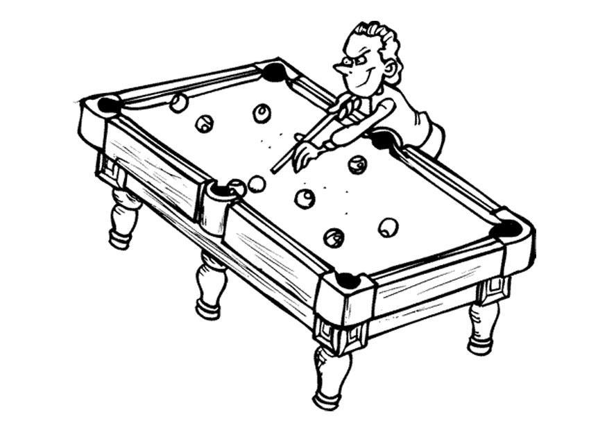 Man Playing Pool Coloring Page