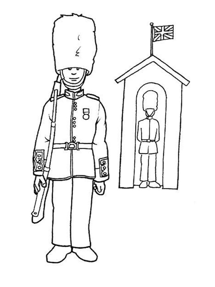 Man From United Kingdom Coloring Page