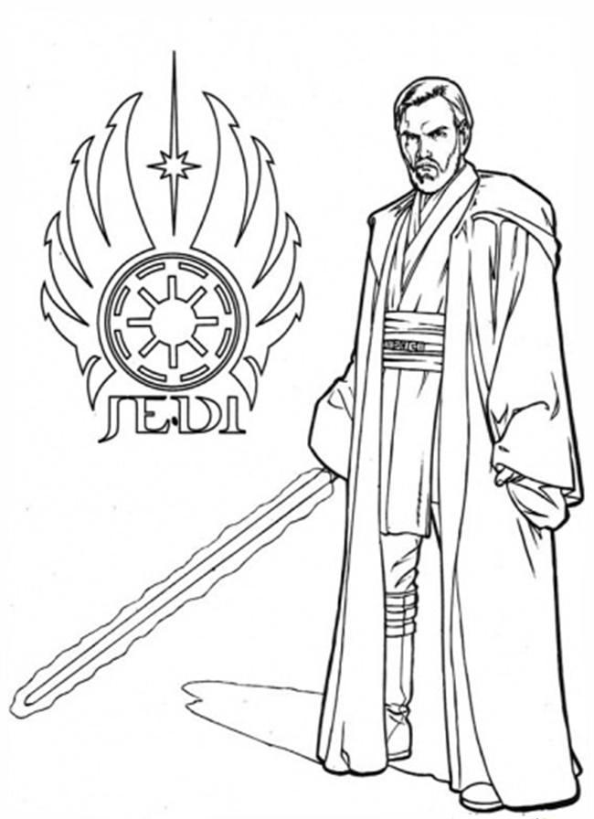 Obe Wan Kenobi Coloring Pages