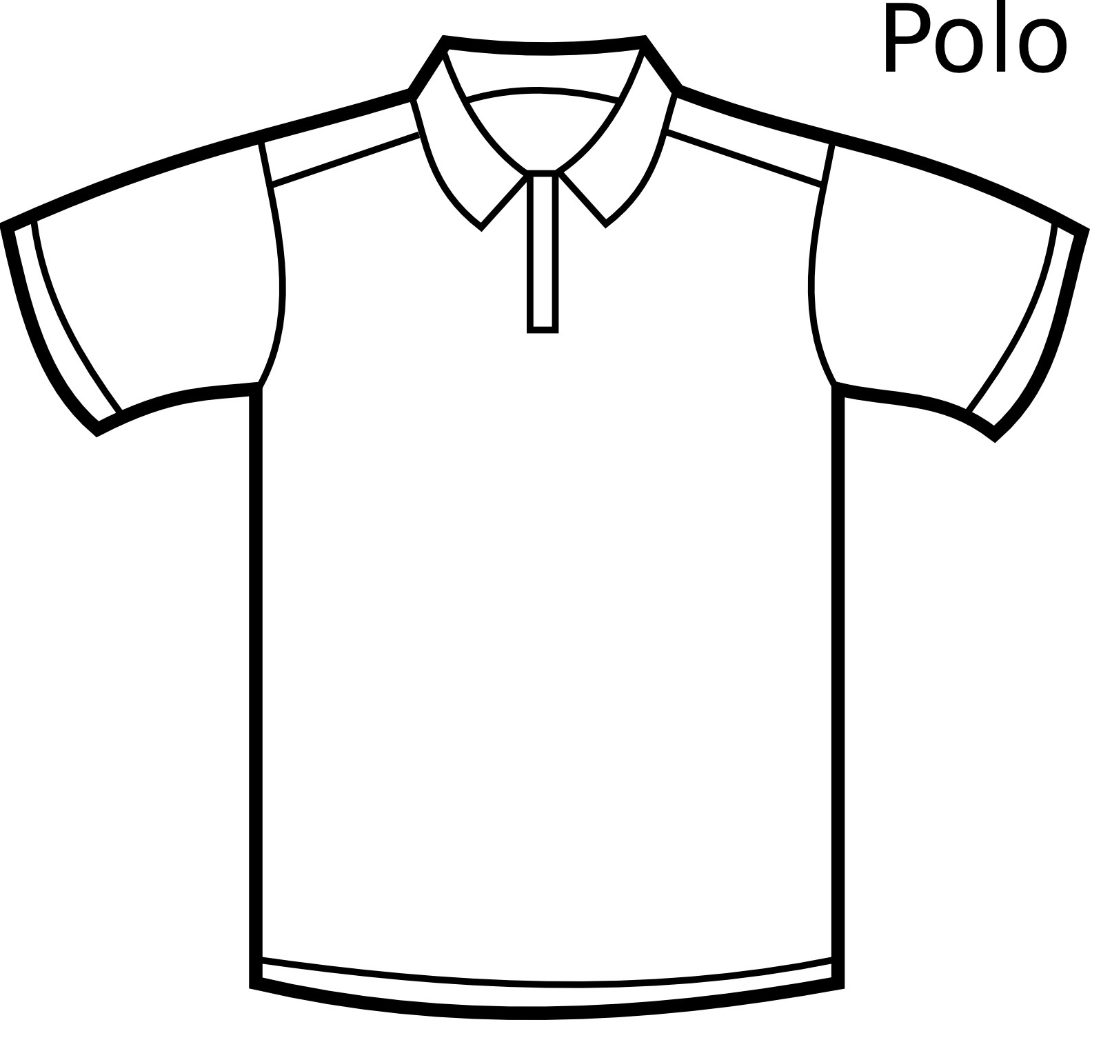 Polo Shirt Printable Coloring Pages