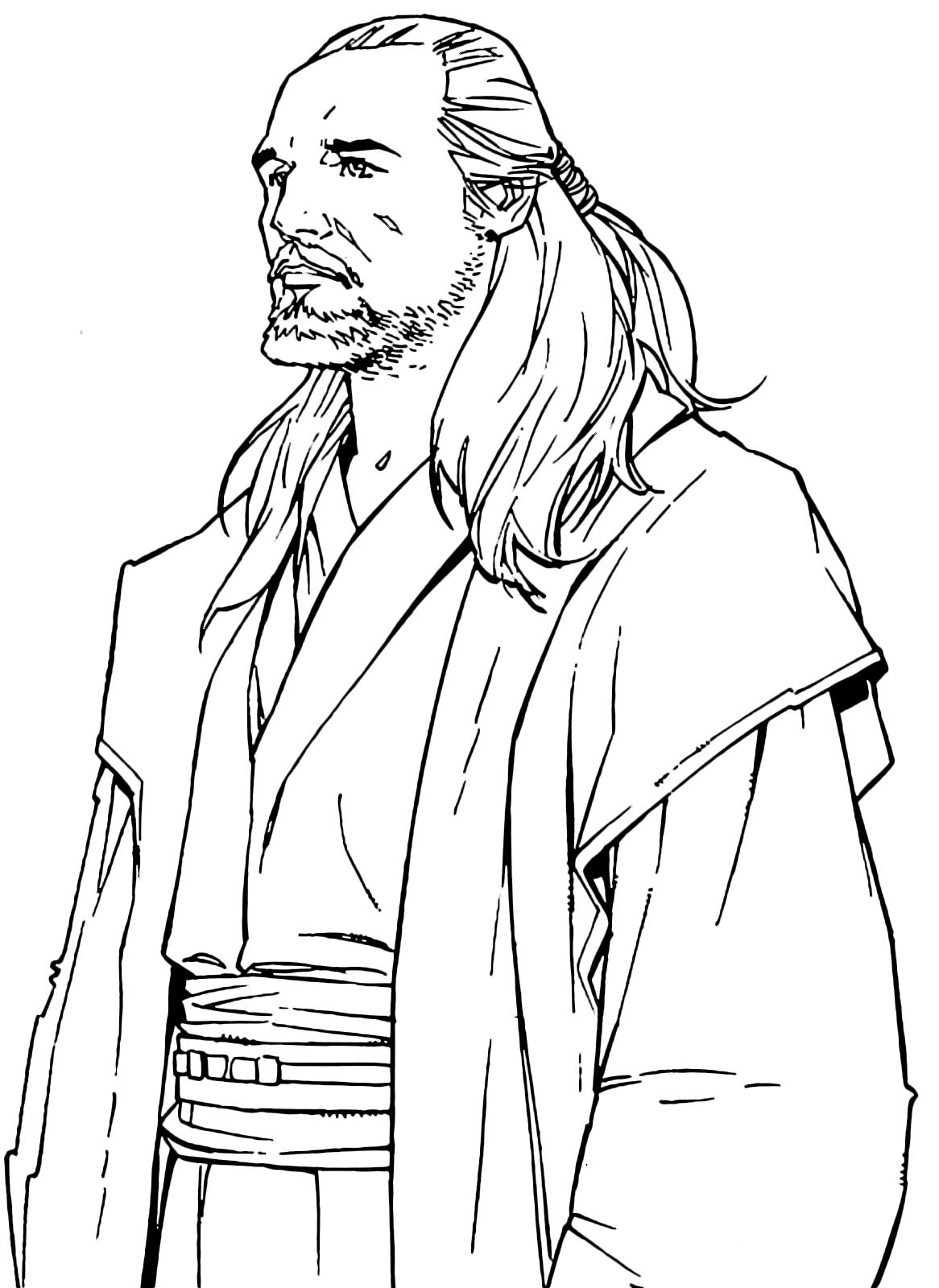 Qui Gon Jinn Coloring Page